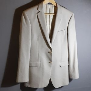 40L Ralph Lauren silk/wool tan blazer